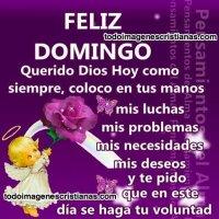 Imágenes Cristianas: Feliz domingo, Querido Dios