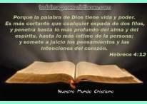 Imágenes cristianas: La Palabra de Dios tiene vida y poder