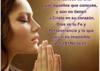 Imágenes con frases: No te canses de orar por aquellos que conoces