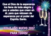 Hermosa imagen cristiana para desear Feliz Año Nuevo 2017