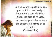 Imágenes de Salmos Bíblicos:  Salmo 27:4