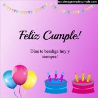 Imágenes de cumpleaños con la frase que Dios te bendiga