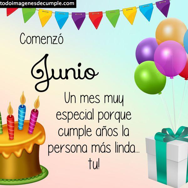 feliz cumpleaños junio