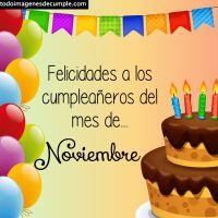 Imágenes de cumpleaños mes de Noviembre (descarga gratis)