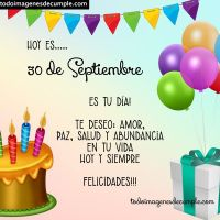 Imágenes de cumpleaños con los días del mes de Septiembre