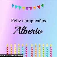 Feliz cumpleaños Alberto