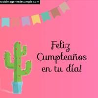 Imágenes de feliz cumpleaños con Cactus