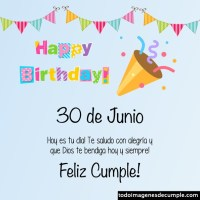 Imágenes de cumpleaños con los días de JUNIO