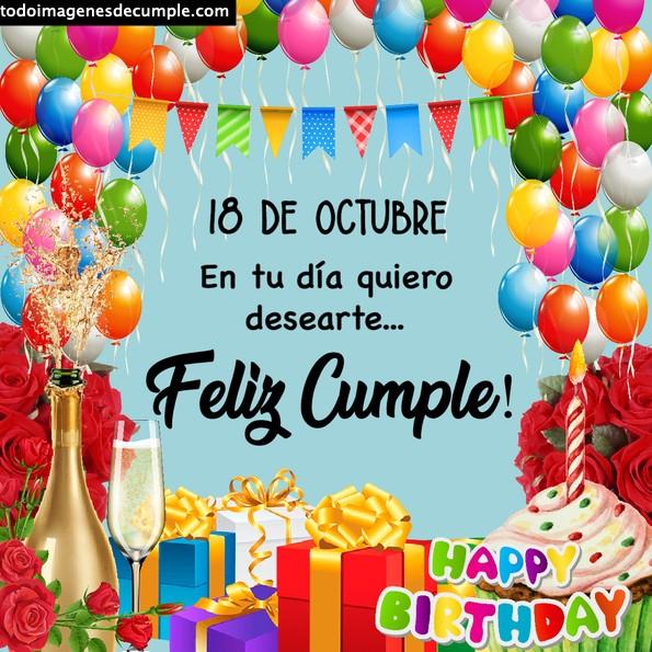 Imágenes de cumpleaños 18 de octubre