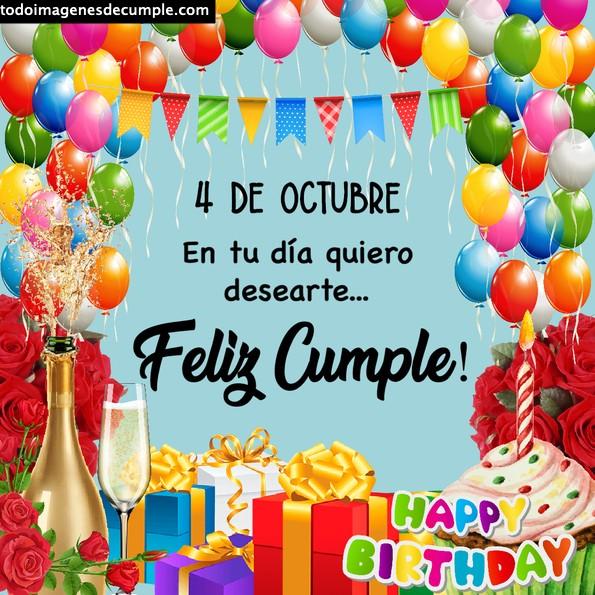 Imágenes de cumpleaños 4 de octubre