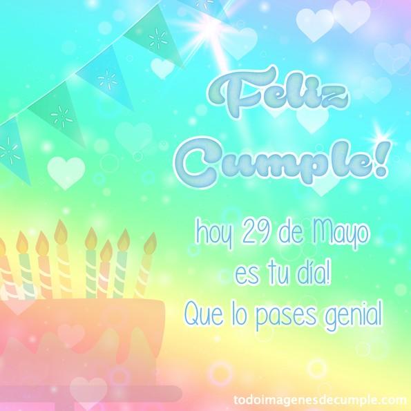 feliz cumpleaños 29 Mayo