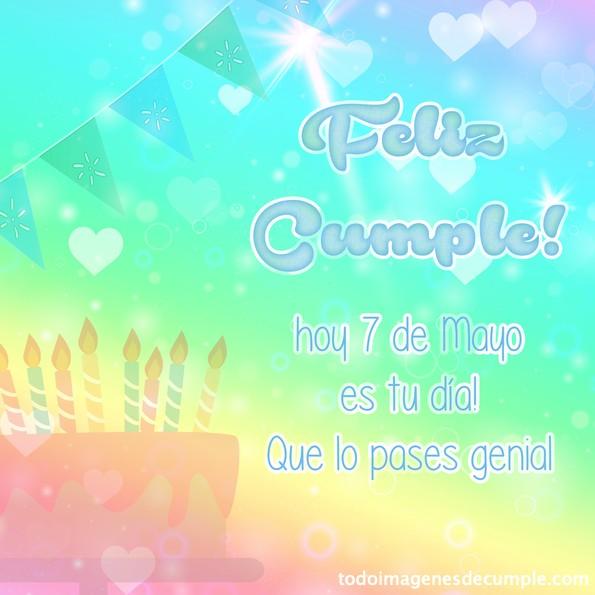 feliz cumpleaños 7 Mayo