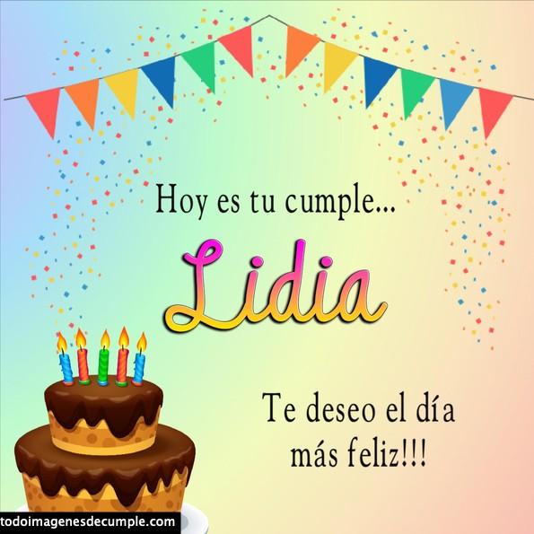Feliz cumpleaños Lidia