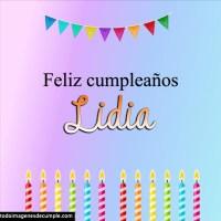 Imágenes de cumpleaños con nombre Lidia
