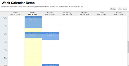 Weekly Calendar Jquery : Jquery week calendar todo