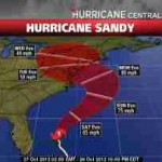 projected path of Sandy