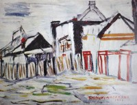 The back of the iron factory / 1931 / oil / 46×61cm
