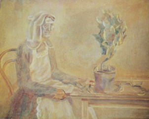 Housekeeper / 1923-1927 / oil / 80×100 cm