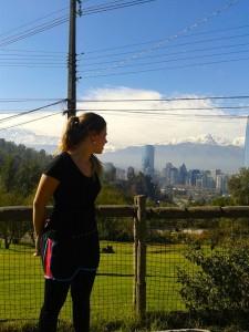 Josefa Bitsch en el Cerro San Cristóbal