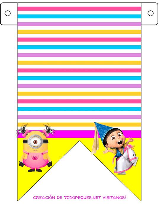 Kits Imprimibles Minions Agnes