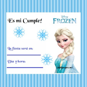 Invitaciones De Cumple Con Elsa De Frozen Todo Peques
