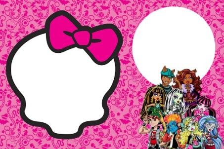 convite 4 monster high