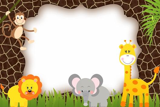 Etiquetas animalitos de selva -stickers | Todo Peques