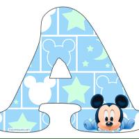 Letras de Mickey Baby Alfabeto para Descargar Gratis