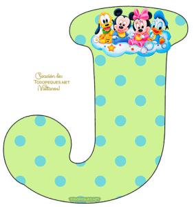 Disney bebe letras para Imprimir