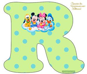 Mickey y Minnie bebe letras abecedario