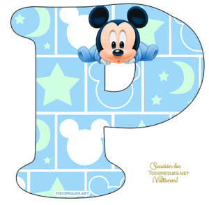 Letra p Mickey Baby Letters alphabet