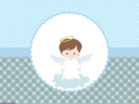 Free printable baptism with angels