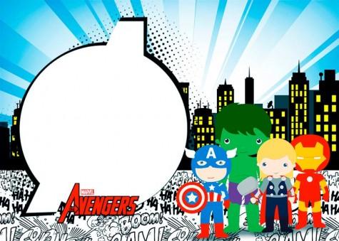 Kit imprimible de Avengers - Los Vengadores
