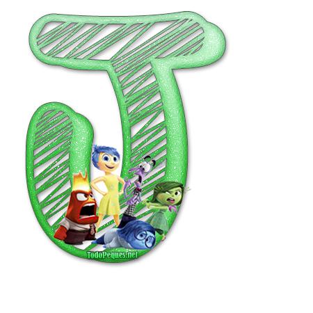 Letras abecedario de intensamente para imprimir y decorar for Formas de letras para cumpleanos