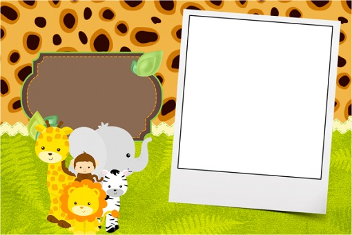 candy bar con animalitos safari selva jungla - stickers leones jirafas cebras - cute animals printables free