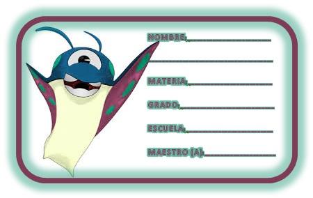 Etiquetas escolares Bajoterra 7