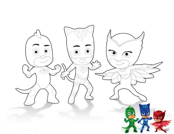 Dibujos para colorear PjMasks – Héroes en Pijamas | Todo Peques
