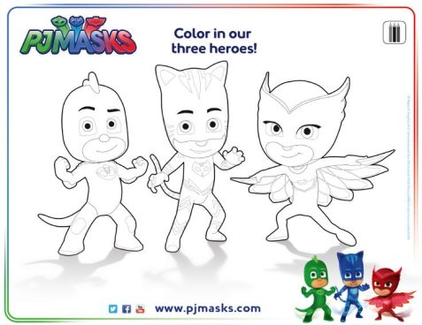 pj masks personajes dibujos