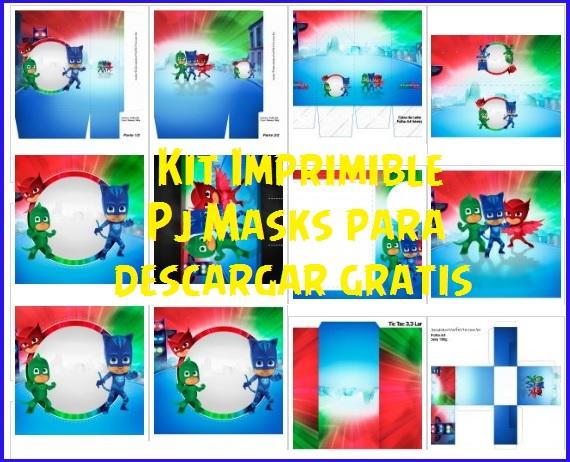Cumpleaños de Pj Masks - Kits de Pj Masks para imprimir gratis - Cumpleaños de Heroes en Pijamas