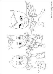 Dibujos de Héroes en Piyamas - Dibujos de Pj Masks - Dibujos de Catboy OwletteGekko - Imprimibles de pj Masks colorear