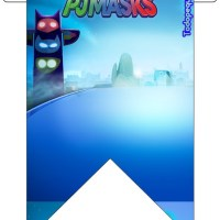 Banderines de Pj Masks o Heroes en Pijamas para descargar gratis