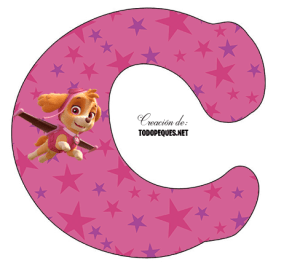 alfabeto paw patrol skye letras