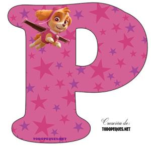 Alphabet Paw Patrol Skye letters