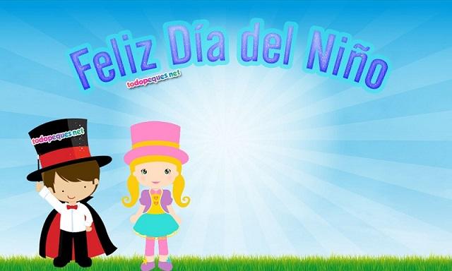 Descargar Lindas Tarjetas Para El Día Del Niño Con Frases: Imágenes Con Frase Feliz Día Del Niño Para Descargar Y