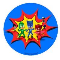 Mega colección etiquetas stickers de Pj Masks o Héroes en Pijamas, descarga gratis
