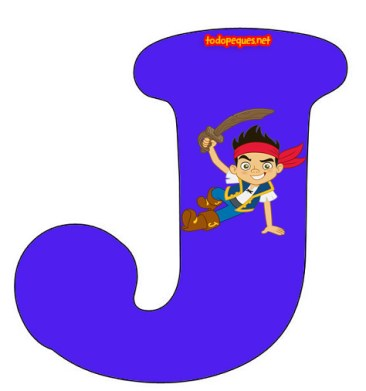 Alfabetos de Jake Pirata - letras abecedario jake pirata