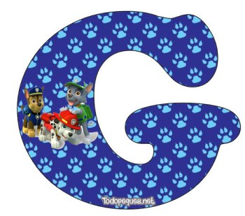alfabetos patrulla canina para descargar
