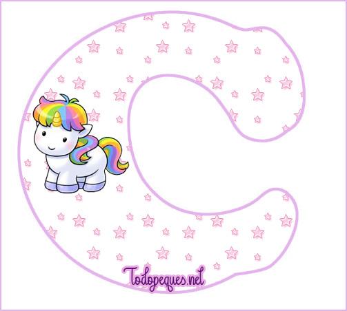 Unicornios Letras Abecedario para Imprimir Gratis | Todo Peques