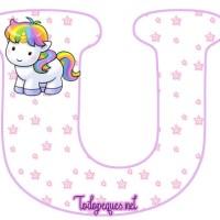 Unicornios Letras Abecedario para Imprimir Gratis