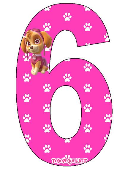 Numbers Paw patrol Skye